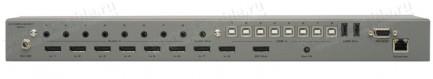 Фото3 EXT-DPKVM-841 - Коммутатор 8x1 сигналов DisplayPort + USB 2.0 + Аудио, управление RS232, ИК пульт