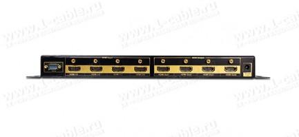 Фото2 HIT-HDMI-X444W - Матричный видео коммутатор сигналов HDMI (версия 1.4) 4х4, серия SLIM с ИК пультом