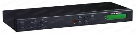 Фото1 HIT-HDMI-X444PRO - Матричный видео коммутатор сигналов HDMI 4х4, серия RACK с управления ИК и RS232