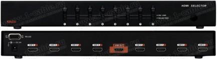 Фото2 HIT-HDMI-841PRO - Видео коммутатор сигналов HDMI (версия 1.3) 8х1 с ИК пультом управления