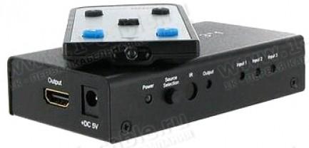 Фото2 HIT-HDMI-441 - Видео коммутатор сигналов HDMI (версия 1.3) 4х1 с ИК пультом управления