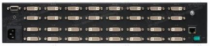 Фото2 GEF-DVI-16416-PB - Матричный видео коммутатор DVI-I 16х16 с панелью управления, ИК пультом управлени
