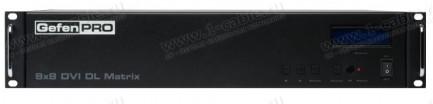Фото2 GEF-DVI-848DL - Матричный видео коммутатор DVI Dual Link 8х8 с управлением по удаленному IP, ИК пуль