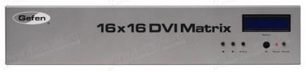 Фото1 EXT-DVI-16416 - Матричный видео коммутатор DVI 16х16 с ИК пультом, управлением по RS-232 и Ethernet