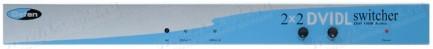 Фото1 EXT-DVI-422DL - Коммутатор 2x2 сигналов DVI Dual Link (3840 x 2400) + 2x USB + Аудио