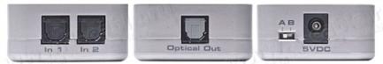 Фото2 GTV-DIGAUD-241 - Аудио коммутатор 2x1 цифровых аудио сигналов TOSlink