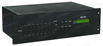 Фото1 HIT-COMPAUD-888 - Матричный коммутатор 8х8 компонентных (YPbPr) видеосигналов и стерео аудиосигналов