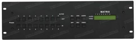 Фото2 HIT-COMPAUD-888 - Матричный коммутатор 8х8 компонентных (YPbPr) видеосигналов и стерео аудиосигналов