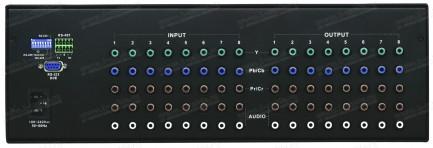Фото3 HIT-COMPAUD-888 - Матричный коммутатор 8х8 компонентных (YPbPr) видеосигналов и стерео аудиосигналов