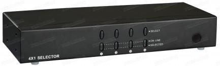 Фото1 HIT-VGAAUD-441 - Видео-аудио коммутатор сигналов VGA 4х1 с ИК пультом управления