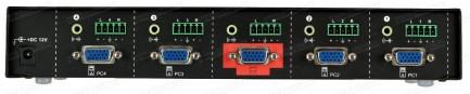 Фото3 HIT-VGAAUD-441 - Видео-аудио коммутатор сигналов VGA 4х1 с ИК пультом управления