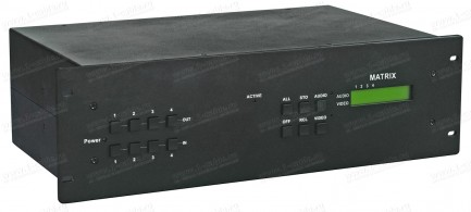 Фото1 HIT-COMPAUD-444 - Матричный коммутатор 4х4 компонентных видеосигналов и стерео аудиосигналов