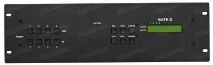 Фото2 HIT-COMPAUD-444 - Матричный коммутатор 4х4 компонентных видеосигналов и стерео аудиосигналов