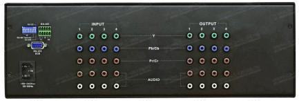 Фото3 HIT-COMPAUD-444 - Матричный коммутатор 4х4 компонентных видеосигналов и стерео аудиосигналов