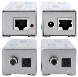 Фото3 EXT-DIGAUD-141 - Удлинитель звуковый цифровых линий S/PDIF и TOSlink по витой паре (5e Cat) на 100 м