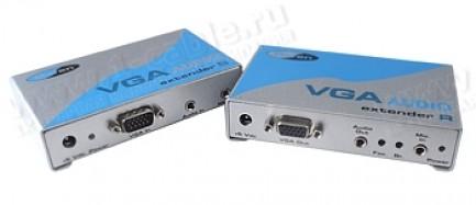 Фото1 EXT-VGA-AUDIO-141 - Удлинитель линий VGA и аудио сигнала по витой паре (5 Cat) на 45 м