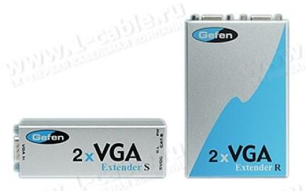 Фото1 EXT-VGA-CAT5-142 - Комплект устройств для передачи и распределения сигнала VGA 1:2 по витой паре на