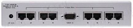 Фото2 EXT-VGA-CAT5-148S - Усилитель-распределитель 1:8 сигналов VGA или компонентных видеосигналов по вито