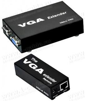 Фото1 HIT-VGA-CAT5-151PRO+ - Комплект устройств для передачи и распределения сигнала VGA по витой паре на