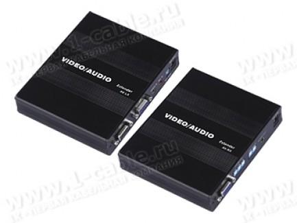 Фото1 HIT-VGAAUD-CAT5-151PRO+ - Комплект устройств для передачи и распределения сигнала VGA и стереозвука