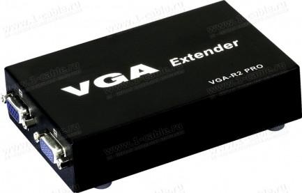 """Фото1 HIT-VGA-CAT5-14xR2 - Приемник-распределитель 1:2 сигналов VGA по витой паре на 300 м, серия """"VC-S"""""""