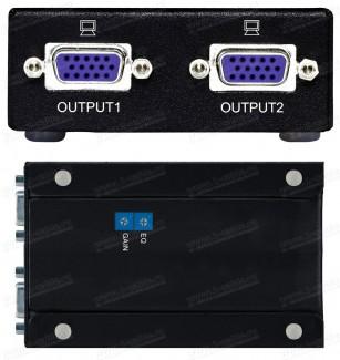 """Фото2 HIT-VGA-CAT5-14xR2 - Приемник-распределитель 1:2 сигналов VGA по витой паре на 300 м, серия """"VC-S"""""""