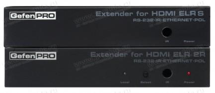 Фото1 GEF-HDCAT5-ELRPOL2 - Удлинитель линий HDMI (встроенный коммутатор), RS232, Ethernet, ИК и питания (+