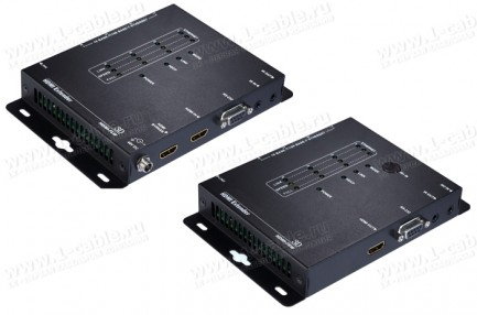 Фото1 HIT-HDMI-LAN-IPCAT5-100 - Удлинитель-распределитель линий HDMI (версия 1.4) по одному кабелю витая п