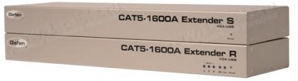 Фото1 EXT-CAT5-1600A - Удлинитель линий VGA и USB 2.0 по двум кабелям витой пары (5/6 Cat) до 100 м