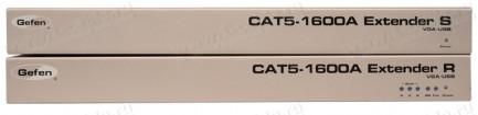Фото2 EXT-CAT5-1600A - Удлинитель линий VGA и USB 2.0 по двум кабелям витой пары (5/6 Cat) до 100 м