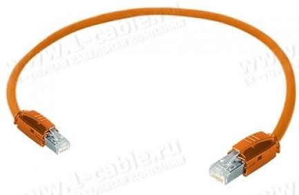 Фото1 1K-ETHC6U-1.. Кабель коммутационный патч, Ethernet, категория 6a U/FTP, RJ45 штекер > RJ45 штекер, 5