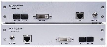 Фото2 EXT-DVI-1500HD - Удлинитель линий DVI (поддержка разрешений до 1920 x 1200) по оптоволокну и витой п