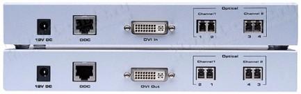 Фото2 EXT-DVI-2500HD - Удлинитель линий DVI DL (поддержка разрешений до 2560x1600) по оптоволокну и витой