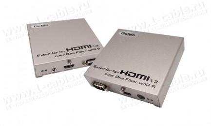 Фото1 EXT-HDMI1.3-1FO - Удлинитель линий HDMI v1.3, сигналов управления RS-232 и ИК по оптоволокну на 330