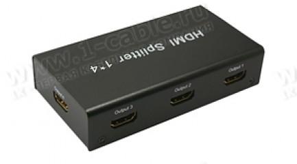 Фото1 HIT-HDMI1.3-144 - Распределитель сигналов HDMI 1:4, 1 вход > 4 выхода, компактный корпус