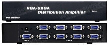 Фото2 HIT-VGA-148 - Распределитель-усилитель сигналов VGA (2048x1536, 60 Hz) 1:8, 1 вход VGA > 8 выходов V