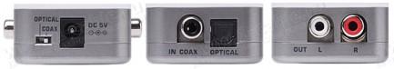 Фото2 GTV-DIGAUD-2-AAUD - Преобразователь цифровых сигналов S/PDIF и TOSLink в аналоговые стерео (без подд