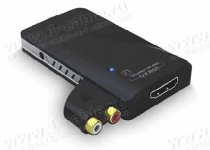 Фото1 HIT-USB-2-HDMI - Преобразователь сигналов USB в цифровые видеосигналы HDMI 1080р + Aудио