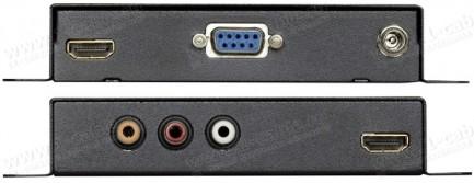 Фото2 HIT-HDMI-D2DA-DEL - Преобразователь аудио цифровых (HDMI) сигналов в аналоговые (RCA) и цифровые (S/
