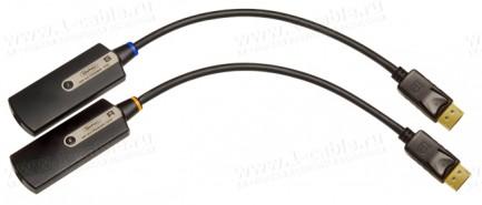 Фото1 EXT-DP-CP-FM10 - Компактный удлинитель сигналов DislpayPort (поддержка разрешений до 2560 х 1600) по