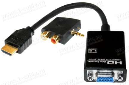 Фото1 HIT-HDMI-2-VGAAUD - Конвертер цифровых сигналов HDMI в аналоговые сигналы VGA и стерео аудио