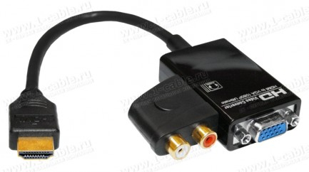 Фото2 HIT-HDMI-2-VGAAUD - Конвертер цифровых сигналов HDMI в аналоговые сигналы VGA и стерео аудио