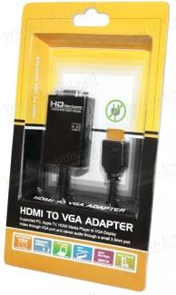 Фото5 HIT-HDMI-2-VGAAUD - Конвертер цифровых сигналов HDMI в аналоговые сигналы VGA и стерео аудио