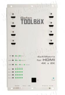 Фото1 GTB-HD4K2K-444-BLK - Матричный видео коммутатор сигналов HDMI 4х4, с поддержкой 4K x 2K, 30 Гц и 108