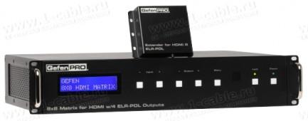 Фото1 GEF-HDFST-848-4ELR - Матричный видео коммутатор HDMI 8х8 с поддержкой разрешений до 1080p с Deep Col