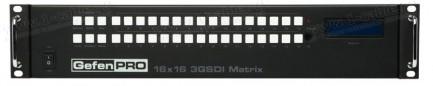 Фото1 GEF-3GSDI-16416-PB - Матричный видео коммутатор сигналов 3G-SDI (BNC) 16х16 с управлением IP, RS-232