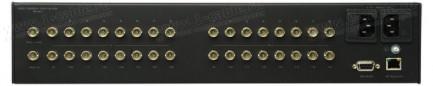 Фото2 GEF-3GSDI-16416-PB - Матричный видео коммутатор сигналов 3G-SDI (BNC) 16х16 с управлением IP, RS-232