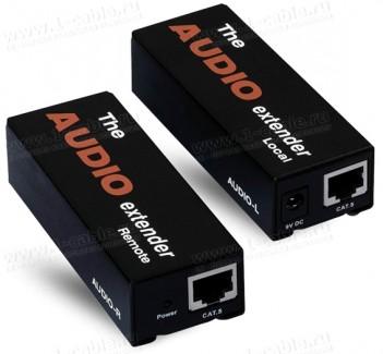 Фото1 HIT-AUD-1000 - Удлинитель звуковых аналоговых линий по витой паре (5e Cat) на 300 м