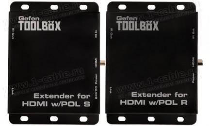 Фото2 GTB-HDBT-POL-BLK - Удлинитель линий HDMI по одному кабелю витая пара (5e/6 Кат) на длины до 70 м, с