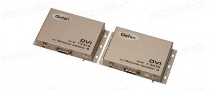 Фото1 EXT-DVI-1CAT6-GI - Удлинитель линий DVI с гальванической развязкой для передачи сигналов DVI-D Singl